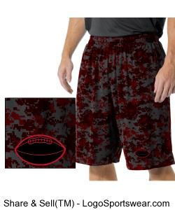RED CAMO BASKETBALL SHORTS Design Zoom